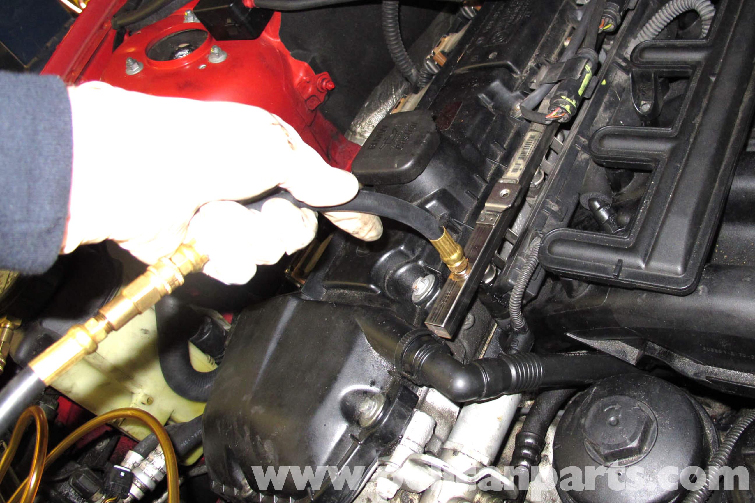 pic05 bmw z3 fuel pump testing 1996 2002 pelican parts diy maintenance