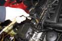 Models with 6-cylinder engine - Install fuel pressure gauge.