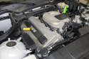 Models with 4-cylinder engine - 4-cylinder models have two small engine covers; one on the cylinder head (yellow arrow), and one that covers the throttle linkage (green arrow).