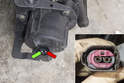 With the air pump remove, use a jumper wire from battery ground to terminal 1 (green arrow).