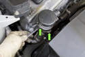 Models with 4-cylinder engine - Secondary air pump check valve - Next remove the two 10mm nuts (green arrows) from the bottom of the check valve.