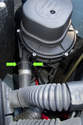 Models with 6-cylinder engine - Secondary air pump -First you have to disconnect the secondary air pipe from the pump.