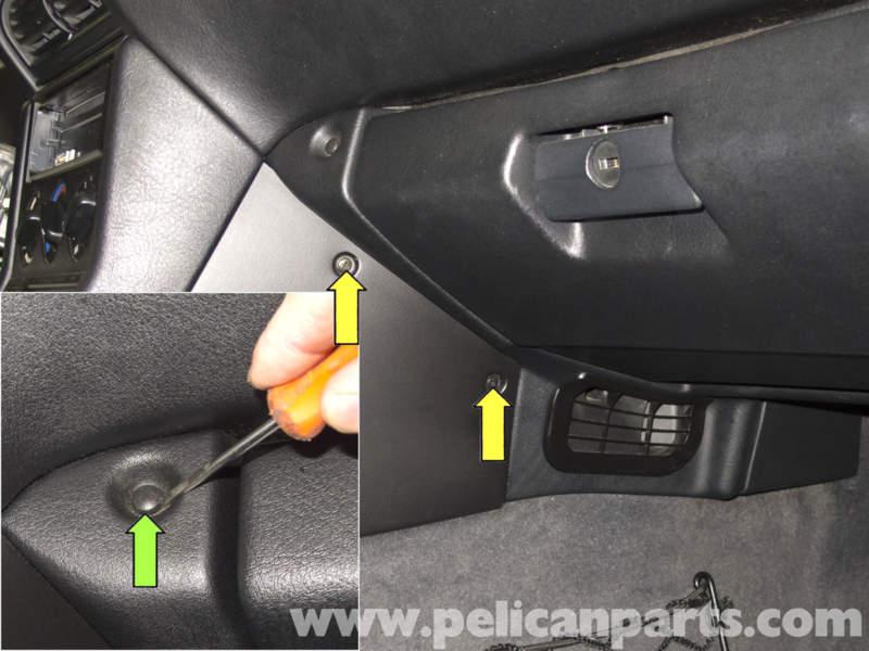 Bmw z3 glovebox replacement 1996 2002 pelican parts diy maintenance article - Console centrale bmw e46 ...
