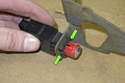 Replacing brake light switch-Once the bracket and switch are removed from the vehicle, you will have to remove the brake light switch from the bracket.