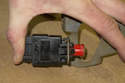 Replacing brake light switch-To install the new switch, press it into the bracket until the retaining tabs snap into place.