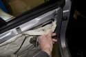 Mirror replacing-Remove door trim panel from door.