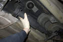 Remove the driveshaft from the vehicle.