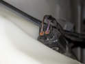 This photo shows the backside of the electrical connector.