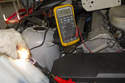 Keep in mind, a test light may light with a low supply voltage.
