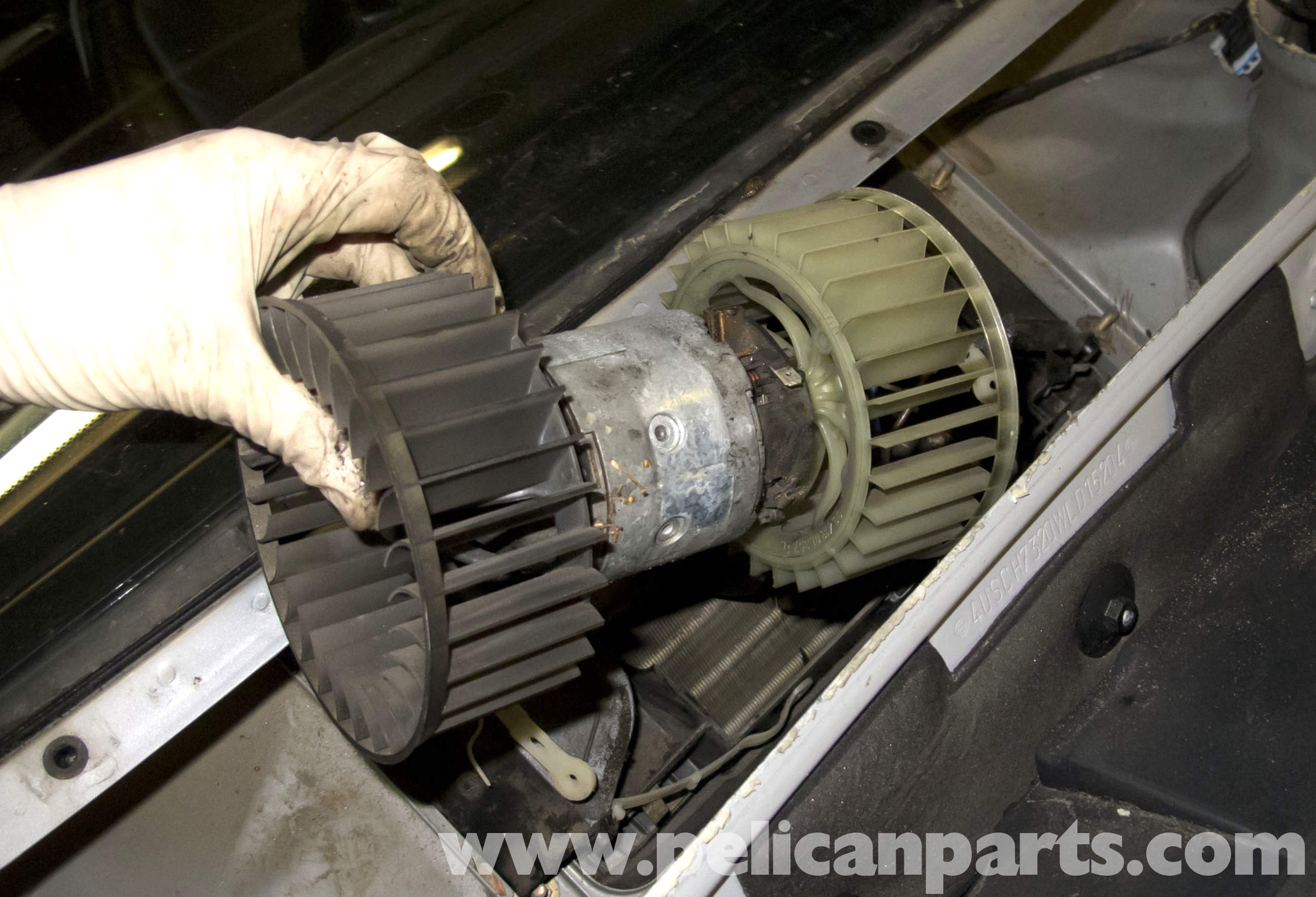 How to replace a blower motor resistor on a 2003 impala for Heater blower motor replacement