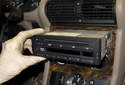 Then slide radio out of dashboard enough to access electrical connectors.