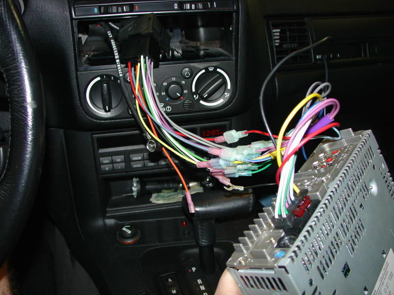 bmw e30 e36 radio head unit installation 3 series (1983 1999 f-15 bmw head unit with the new head unit wired up (figure 18),