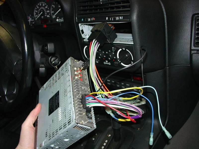 pic20 bmw e30 e36 radio head unit installation 3 series (1983 1999  at bayanpartner.co