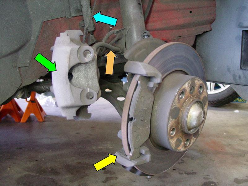 need help ringed brake caliper bolt during brake disc change what can i do now. Black Bedroom Furniture Sets. Home Design Ideas