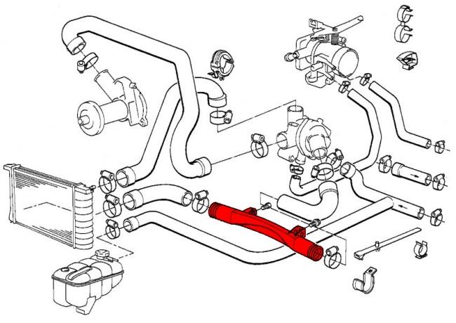 1991 bmw 318i cooling system diagram