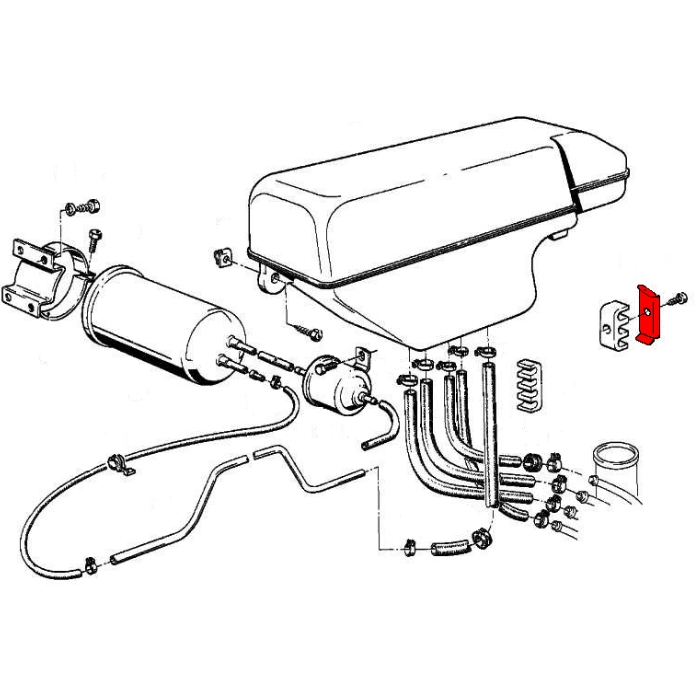 bmw 3-series e21  1977-1983  - fuel system