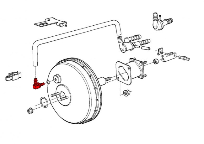 bmw 5-series e34  1989-1996  - brake hydraulics