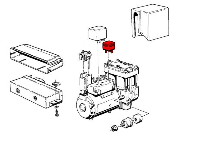 abs relay  timing and valve mechanism for abs system