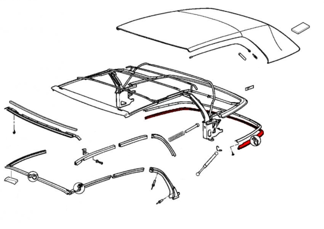 1989 Bmw 325i Convertible Top Parts Diagram 1989 Free
