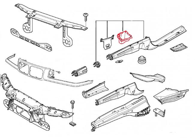left stabilizer support 41118151121 genuine bmw 41 11 8 151 121 pelican. Black Bedroom Furniture Sets. Home Design Ideas