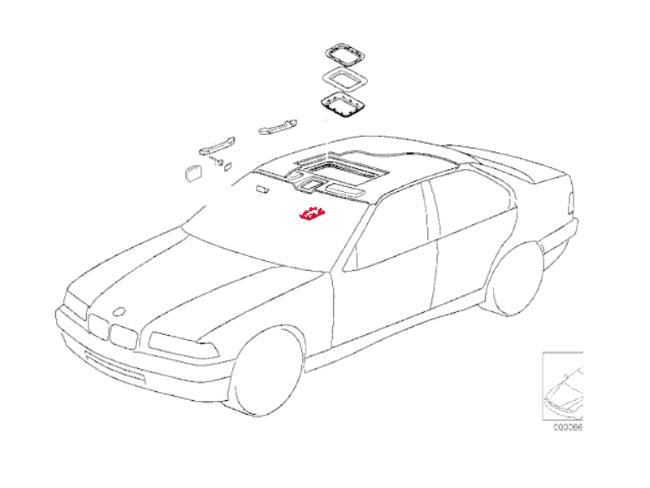bmw 3-series e36  1992-1999  - sunroof parts