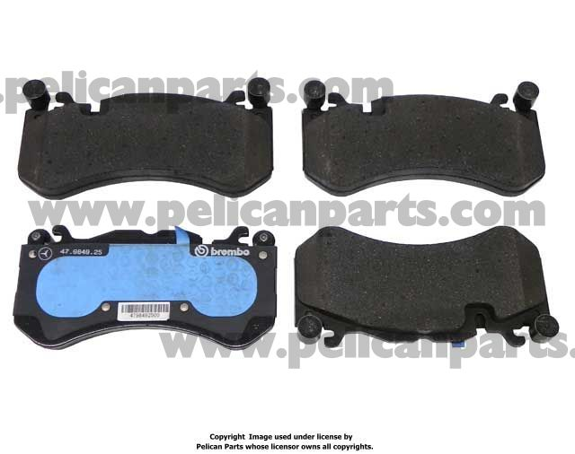 Mercedes benz ml class 2009 2014 w166 brake pads for Mercedes benz rotors and pads