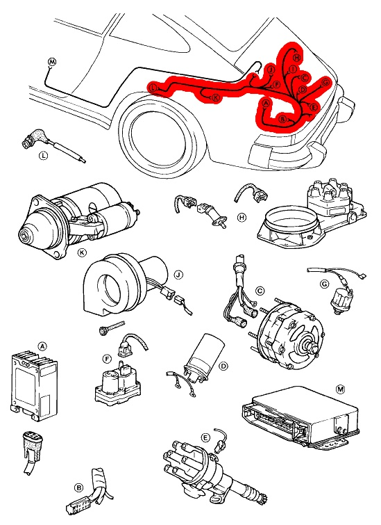 1977 porsche 911s engine diagram