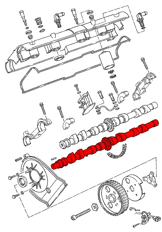 porsche 928  1978-1995  - camshafts  u0026 timing chains