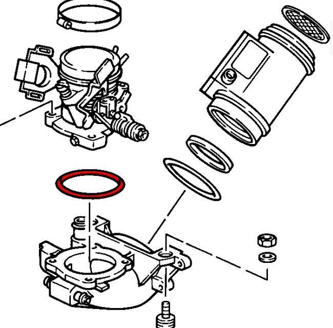 porsche 928  1978-1995  - intake system