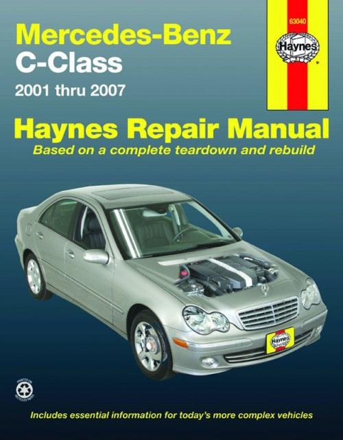 Mercedes benz c class 2001 2007 w203 books technical for 2001 mercedes benz c240 parts