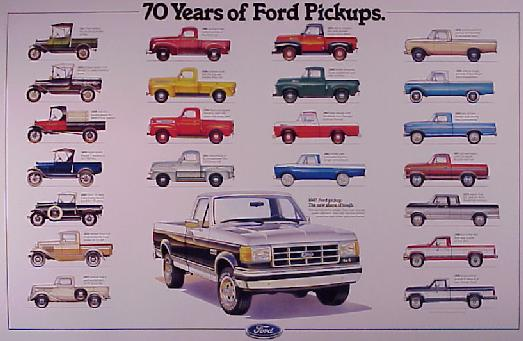 Pelican Parts Com Ford 70 Years Of Pickups Factory Poster