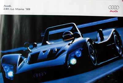 Auto Racing Posters on Auto Union Audi Racing Posters Audi Poster Le Mans 1999