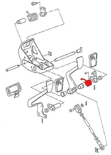 vw brake pedal return spring work on  u0026 39 79 911 u0026 39 s
