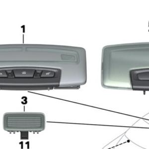 BMW Interior Light Rear 63319219498  Pelican Parts