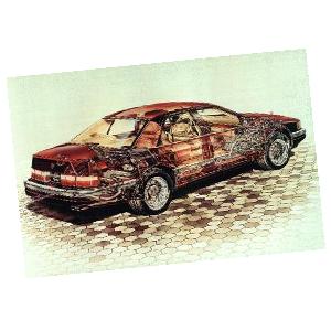 American Car Cutaway Posters