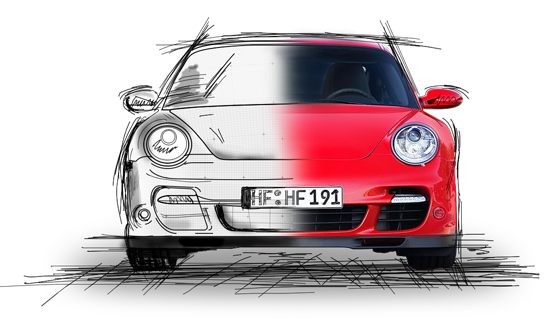 Marque Sketch Car Porsche