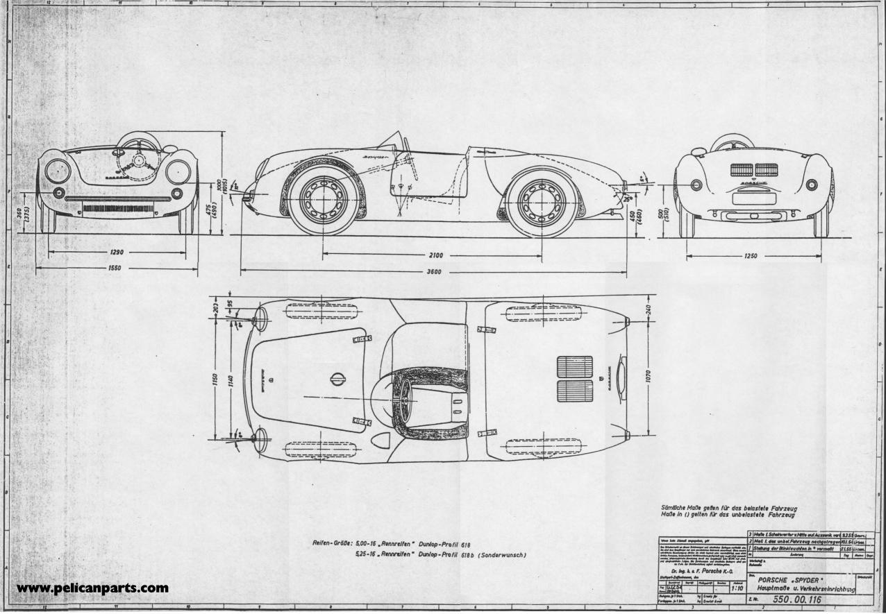 Pelican Parts Original German 550 Blueprint