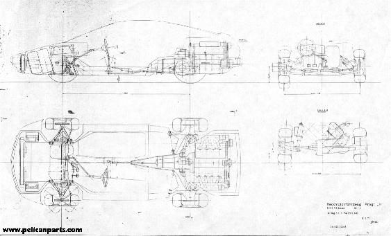 Pelican parts original german 911928 prototype blueprint 911928 prototype blueprint very small 32k malvernweather