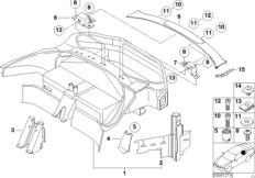 E39 Air Diagram further 201589923684 besides 1995 Bmw Sunroof Wiring Diagram besides 1999 Bmw 740il Belt Tensioner besides Bmw E39 540i Engine. on 1999 bmw 540i parts diagram