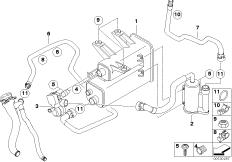 Fuel Vapor Detection Pump 16137193479 Bosch Bmw 16
