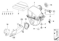 Air Mass Sensor 13627839014 Bosch Bmw 13 62 7 839