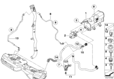 bmw e46 fuel tank with 16 13 7 193 479 M14 on E66 Engine Diagram moreover Bmw Engine Bay additionally IrGkrK furthermore Cooling System Water Hoses besides 16 13 7 193 479 M14.