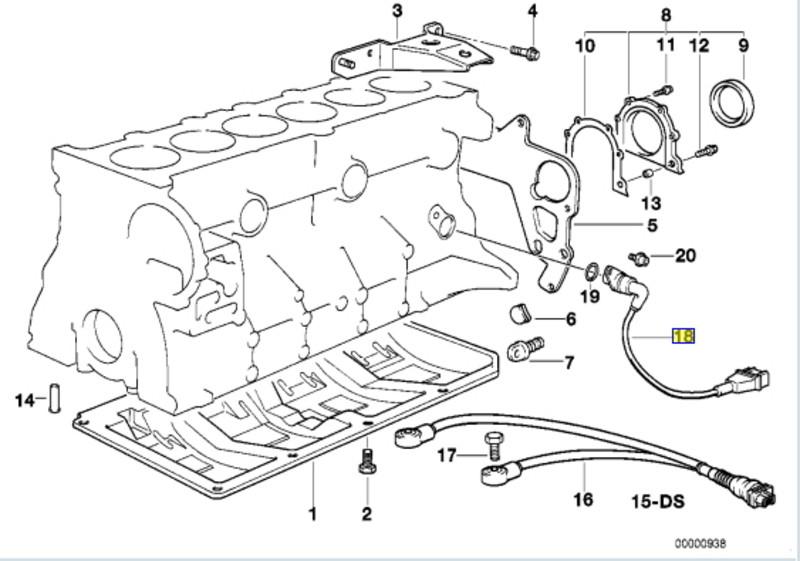 3' E36 кабриолет 320i M50 ECE L M - Блок цилиндров/дополнительные элементы.