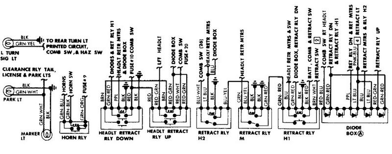 porsche 914 headlight wiring diagram