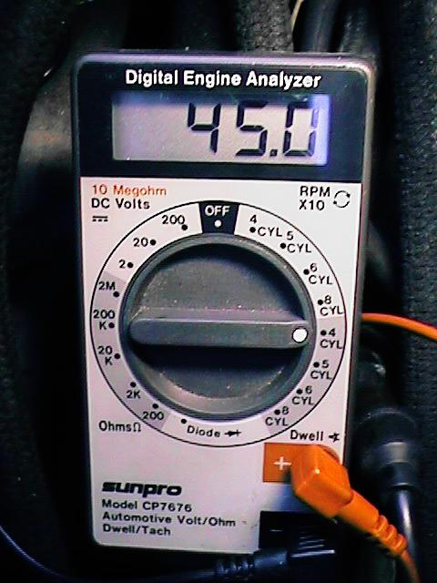 how to set dwell angle with a multimeter