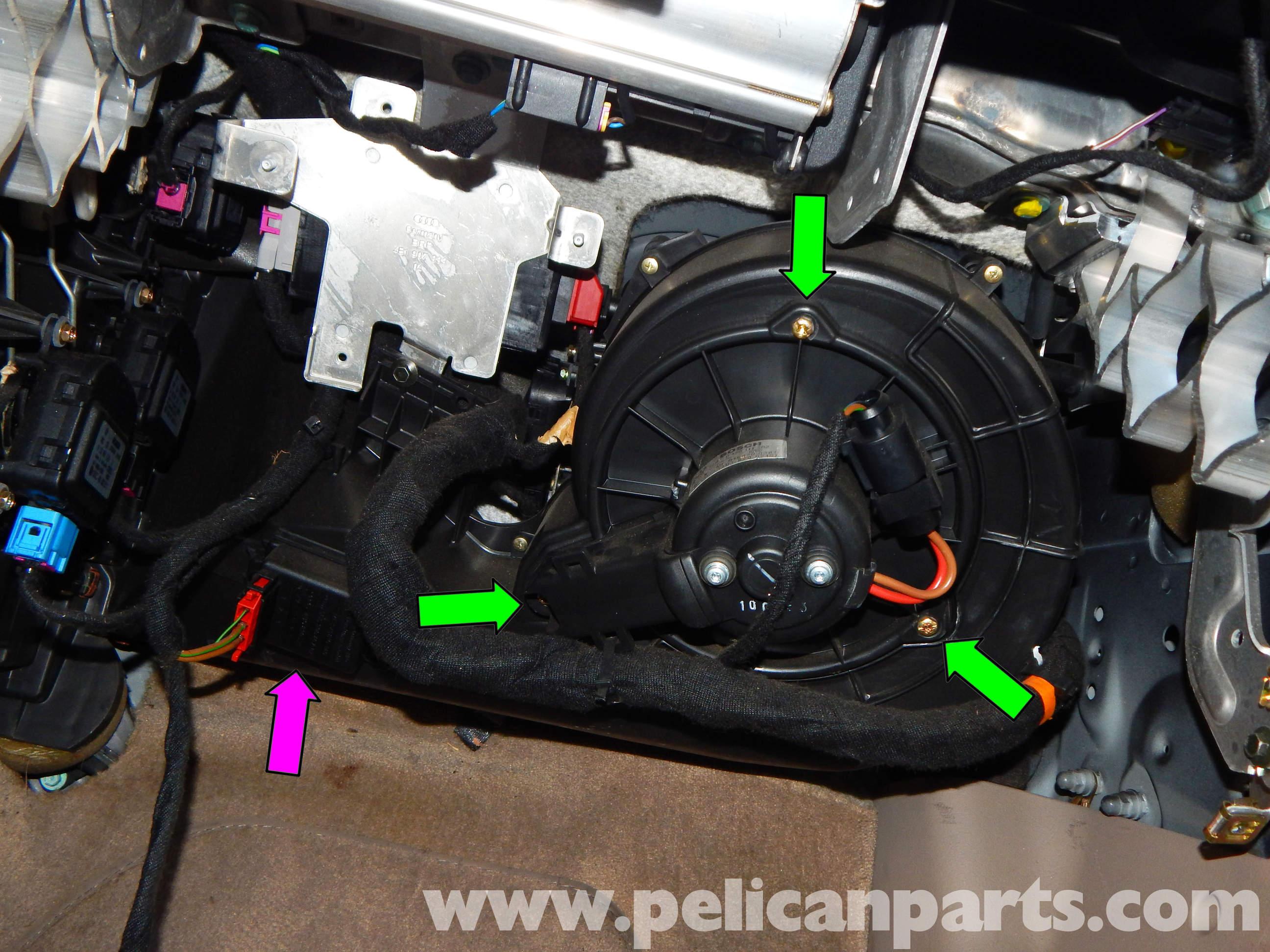Pelican Technical Article Audi A6 C5 Hvac Blower Motor