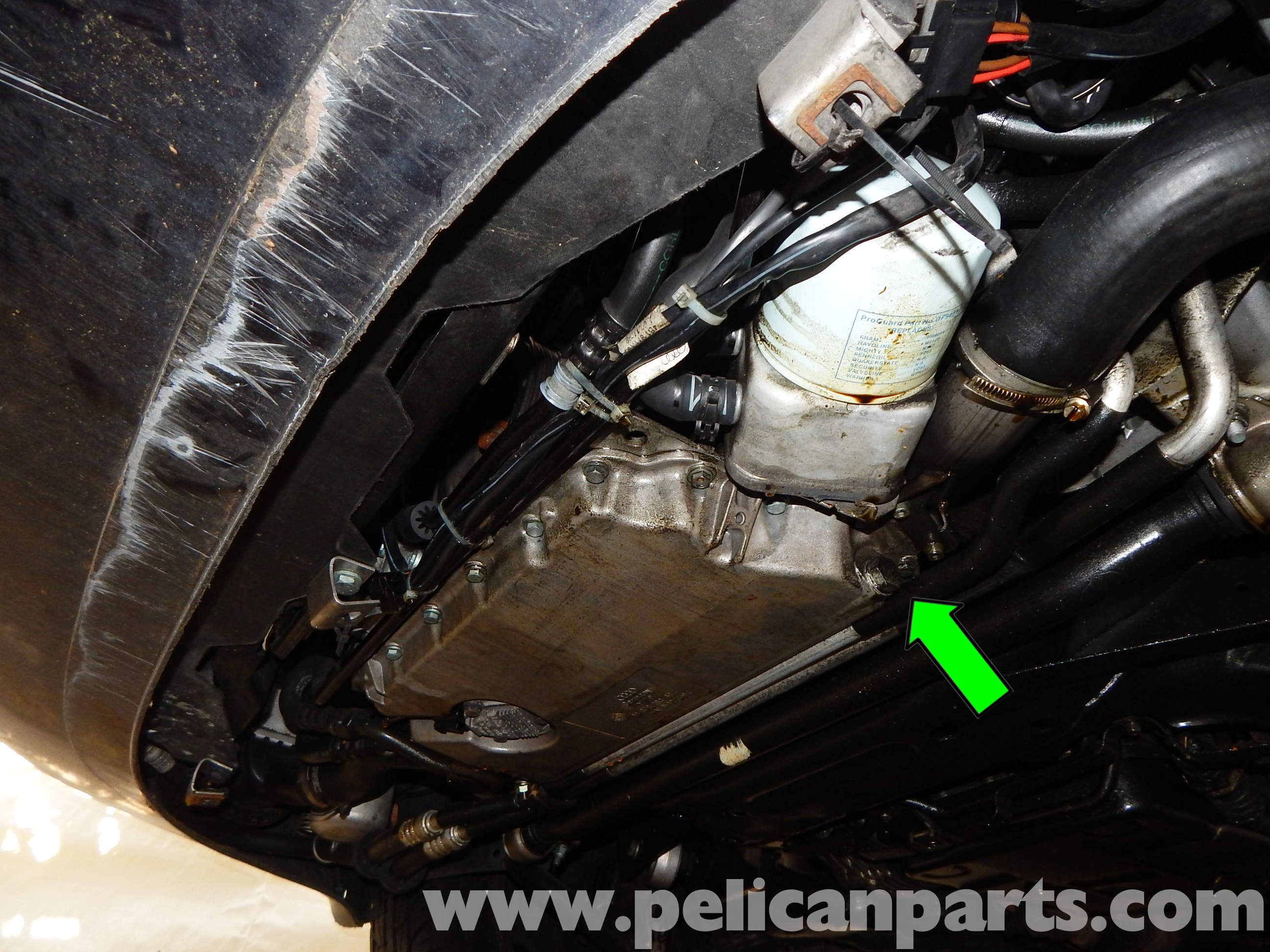 Pelican technical article audi a6 c5 engine oil change for Audi a6 motor oil