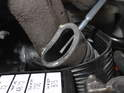 Here I've removed the heater hose all the way to show you that the hole is in the hose, not in the hard pipe to which the hose connects.