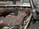 Next, remove the 17mm bolts holding the turbocharger to the exhaust manifold (26 ft-lb).