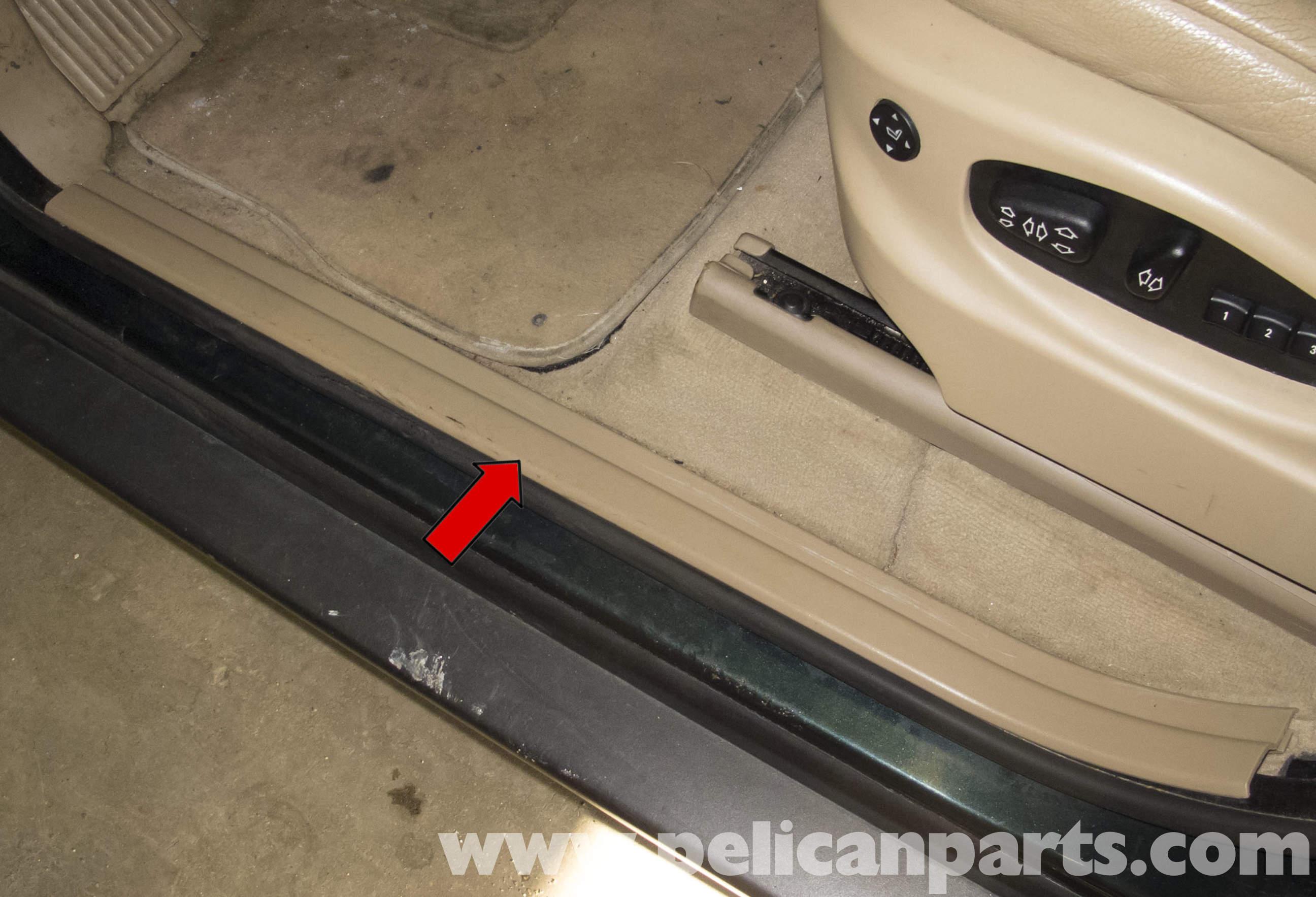 Bmw X5 Door Entrance Trim Replacement E53 2000 2006 Pelican Parts Diy Maintenance Article